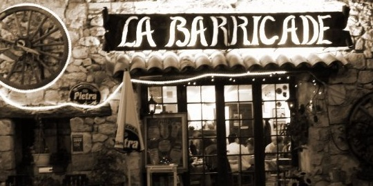 The pizzeria la Barricade in Greolieres