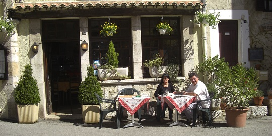 The restaurant du Cheiron in Greolieres
